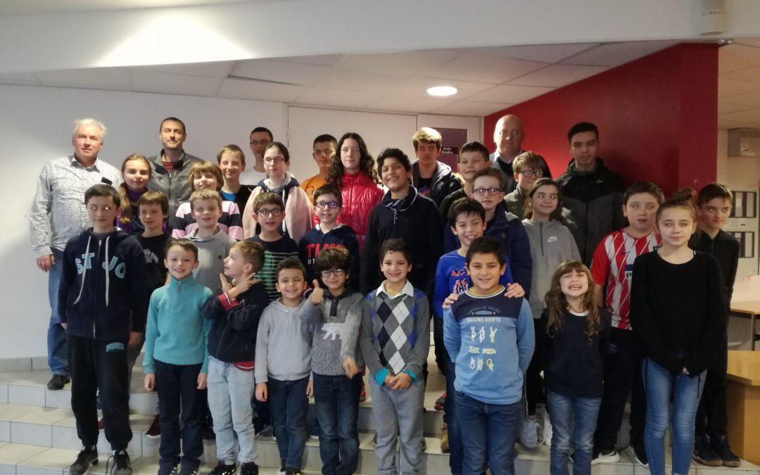STAGE JEUNES DE NOEL : 31 participants