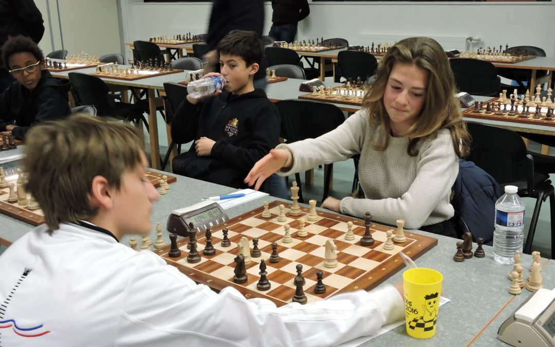 NATIONALE 1 JEUNES : Belle performance de nos jeunes qui battent le club de PARIS ECHECS 16