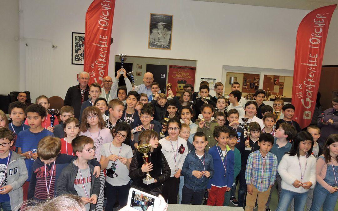 Début du Festival avec le tournoi des écoliers qui a réuni 97 participants !
