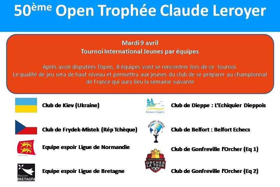 Tournoi International jeunes par équipes : Un plateau de qualité !!